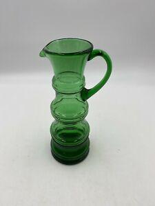 Alte WMF Art Deco Glas Henkelvase - grün - Vintage - Deko Blumen Krug Vase 32cm