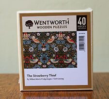 William Morris Strawberry Small Wentworth Wooden Jigsaw Puzzle - 40 Pieces