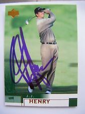 J.J. HENRY signed 2002 Upper Deck golf card AUTO TCU HORNED FROG FAIRFIELD CT JJ