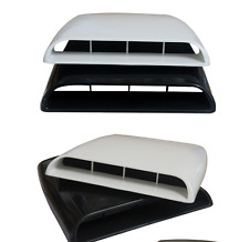 White Universal Car 4x4 Decorative Air Flow Intake Hood Scoop Vent Bonnet Cover