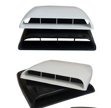 White Universal Car 4x4 Decorative Air Flow Intake Hood Scoop Vent Bonnet Cover