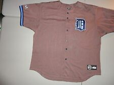 Vintage Brown Majestic Detroit Tigers MLB Sewn Jersey Adult XL RARE Hard to Find