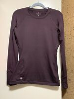 NWOT ATHLETA Crew Neck Long Sleeve Sweatshirt Sz XS Plum Color