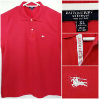 Burberry London Mens XL Polo Shirt Red
