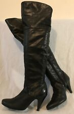 Atmosphere Black Over The Knee Lovely Boots Size 39 (534QQ)