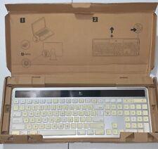 """Logitech K750 Wireless Keyboard Silver """"Missing USB Receiver/Needs Battery"""""""