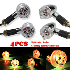 4X Skull Turn Signal Indicator For Honda Shadow ACE Aero Spirit VT 1100 750 700