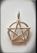 Pentacle Pentagram Pendant 925 Sterling Silver pagan wicca witch druid
