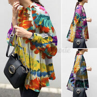 Women Casual Holiday Baggy Tops Shirt Blouse Oversize T-Shirt Pullover Plus Size