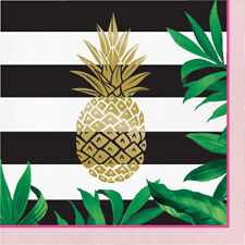 Pineapple Wedding Large Foil Napkins (16) ~ Bridal Party Supplies Dinner Lunch