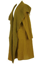 8d97dabc1f4 New Italian Boiled Wool Mix Coat LAGENLOOK Waterfall Pocket Duster Jacket  12-22