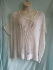 Oversize, Cream Coloured, Pattern Knit Top, Short Sl, Size M/L (12-14), Exc Cond