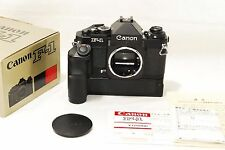 MINT Canon New F-1 Eye Level Finder body 35mm Camera + Power Winder FN (1665)