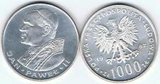 1000 Zl Silbermuenze 1982 Jan Pawel II Papst 14,5 gr Silber! TOP Zustand