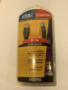 NEW Belkin F3U133-10 USB2 Hi-Speed Cable 10' A PLUG/B PLUG