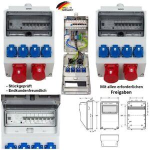 Wandverteiler Baustellenverteiler Stromverteiler Komplett 16A 32A  IP54
