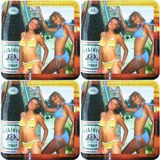 "Lot 4 Belize Beer Coasters Mats Belikin Stout 2005 Classic ""Calendar Girls"" Set"