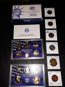 coin LOT collection US proof mint set vintage coin wwll opa bison NO JUNK DRAWER