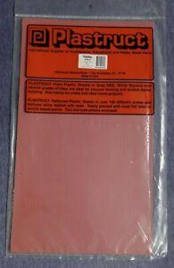 "Plastruct 91613 Styrene 1/48 O - Red Clay Brick 12""x 7"" (2)"