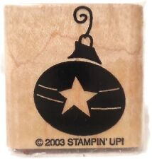 Stampin Up! Rubber Stamp Shining Star 2003 Ornament Mounted