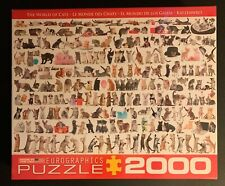 NEW/SEALED EuroGraphics The World of Cats Puzzle 2000-Piece