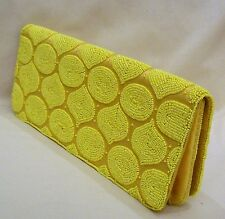 Moyna Shoulder Bag/Clutch Yellow Beaded Silk