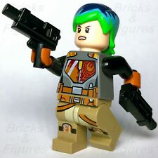 New Star Wars LEGO® Sabine Wren Mandalorian Green Hair Rebels Minifigure 75150