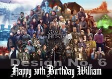 Game Of Thrones Personalised Large Birthday Card Different Designs Same Day Post