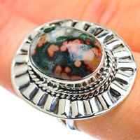 Large Ocean Jasper 925 Sterling Silver Ring Size 7.5 Ana Co Jewelry R49036F