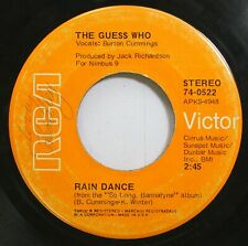 Rock 45 The Guess Who - Rain Dance / One Divided On Rca