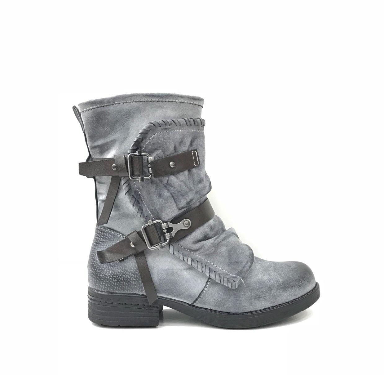 Damen Stiefeletten zapatos zapatos zapatos luxus Scnürer Nieten botas 3022 Schwarz 36 52be3d