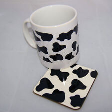 Cow Print mug and coaster set - great gift idea for birthday