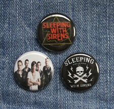 """3 1"""" Sleeping with Sirens pinback badges buttons"""