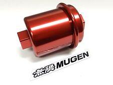 Red Racing High Flow Washable Fuel Filter For 96 00 Honda Civic Ek Jdm Emblem D