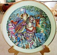 "Royal Doulton Collector Plate Spellbinder ""Winter Magic"" Wizards & Fairies"