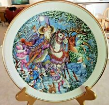 "Royal Doulton Collector Plate Spellbinder ""Winter Magic"" Wizards & Fairies"