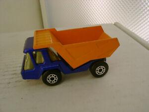 1975 MATCHBOX LESNEY SUPERFAST #23 BLUE & ORANGE ATLAS DUMP TRUCK NEW NO BOX