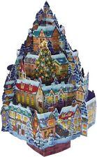 Winter Village Pop Up Christmas Tree Silhouette Greeting Card