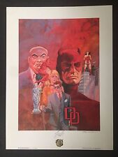 Dare Devil Montage Litho Signed by Gray Morrow and Marvel's Stan Lee