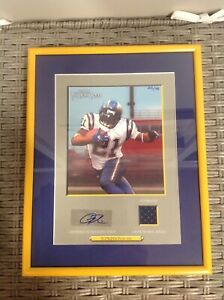 Ladainian Tomlinson topps turkey red jersey autographed plaque 23/75