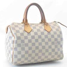 Authentic Louis Vuitton Damier Azur speedy 25 Handtasche N41534 #sa135