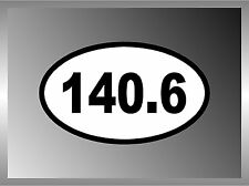 "Ironman Triathlon 140.6 Vinyl Euro Decal Bumper Sticker   4 Pack Of 2.5"""