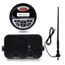 "Marine Radio Bluetooth Stereo Mp3 /USB/AUX+4"" Car Speaker Outdoor+FM AM Antenna"