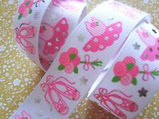 1M x Sparkle Ballerina Tutu Dress Girls GROSGRAIN RIBBON Craft Bow Cake 25MM