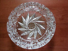 NEW gorgeous heavy clear laser cut glass smokers ashtray geometric stars design