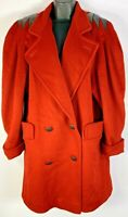 Jules Miller New York Women's 100% Pure Wool Coat size 8 Vintage 80's Thriller