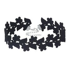 Black Flowers Party Evening Velvet Fashion Women Collar Necklace N505