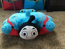 "LARGE THOMAS THE TANK ENGINE TRAIN BIG 12""-18""PLUSH CUDDLE PILLOW PET DOLL TOY"