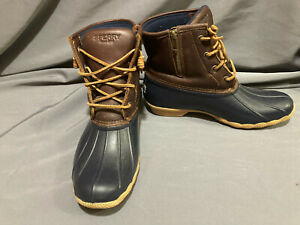 Sperry Saltwater Leather Side Zip Duck Boots - Women 9M - Lightly Used