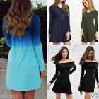Fashion Women Long Sleeve Casual Evening Party Cocktail Short Mini Club Dress